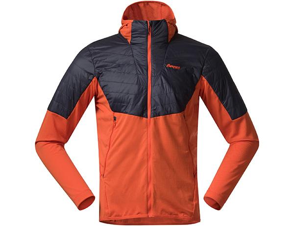Bergans Senja Midlayer Hood Jacket Bright Magma 2021