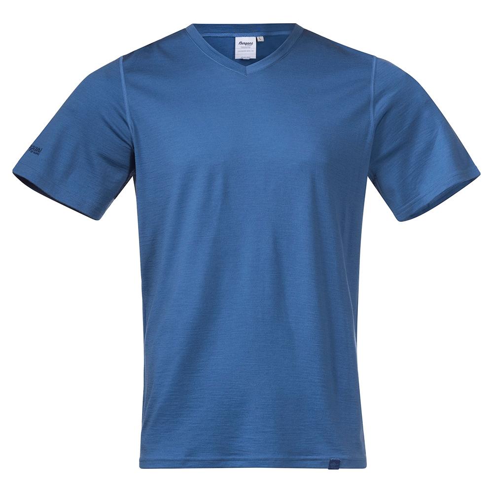 Bergans Bloom Wool Tee Riviera Blue 2021