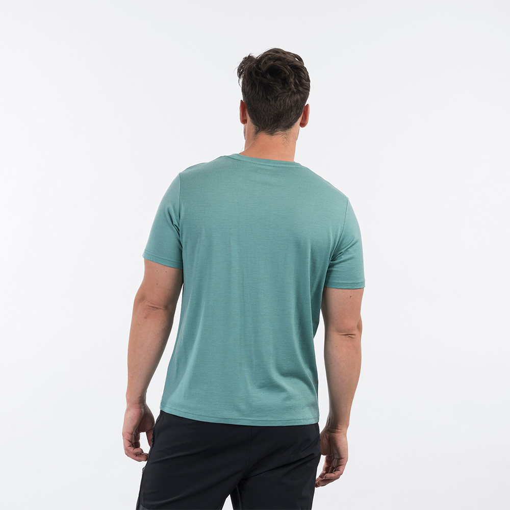 Back Bergans Graphic Wool Tee Light Forest Frost 2021