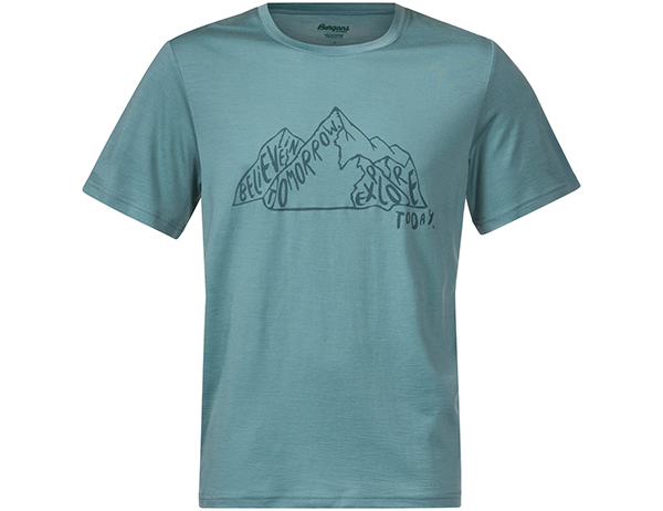 Bergans Graphic Wool Tee Light Forest Frost 2021