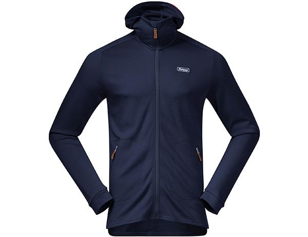 Мъжко яке от мерино вълна Bergans Tuva Light Wool Hood Navy 2021