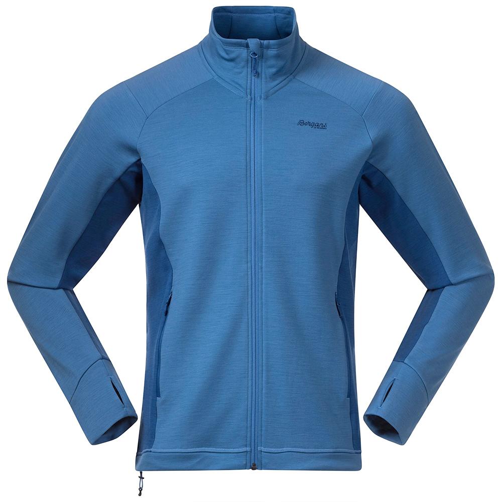 Мъжко вълнено яке Bergans Ulstein Wool Jacket Riviera Blue Melange 2021