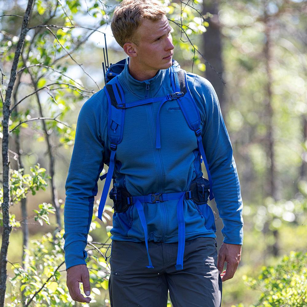 Хайкинг с мъжко вълнено яке Bergans Ulstein Wool Jacket Riviera Blue Melange 2021