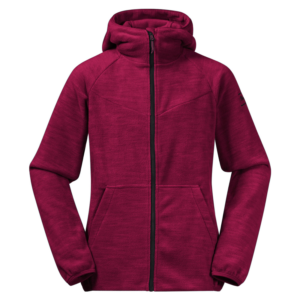 Детско поларено яке Bergans Hareid Youth Girl Jacket Beet Red 2021