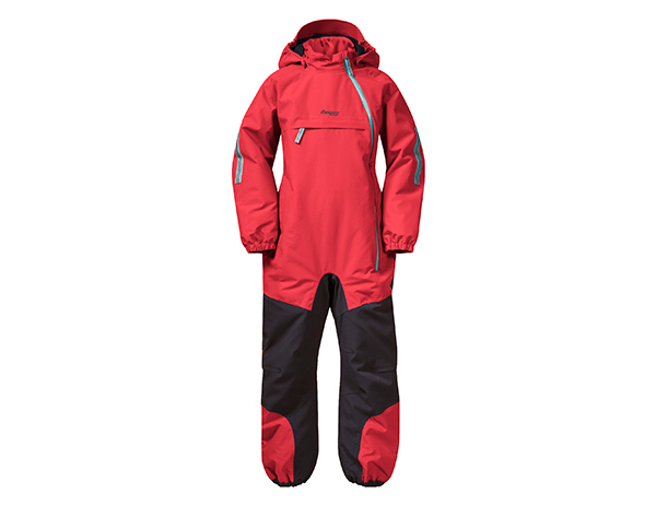 Детска грейка Bergans Lilletind Insulated Kids Coverall Light Dahlia Red 2021