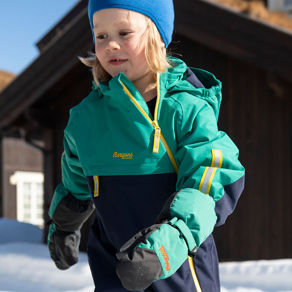 Детска грейка Bergans Lilletind Insulated Kids Coverall Navy / Greenlake 2021