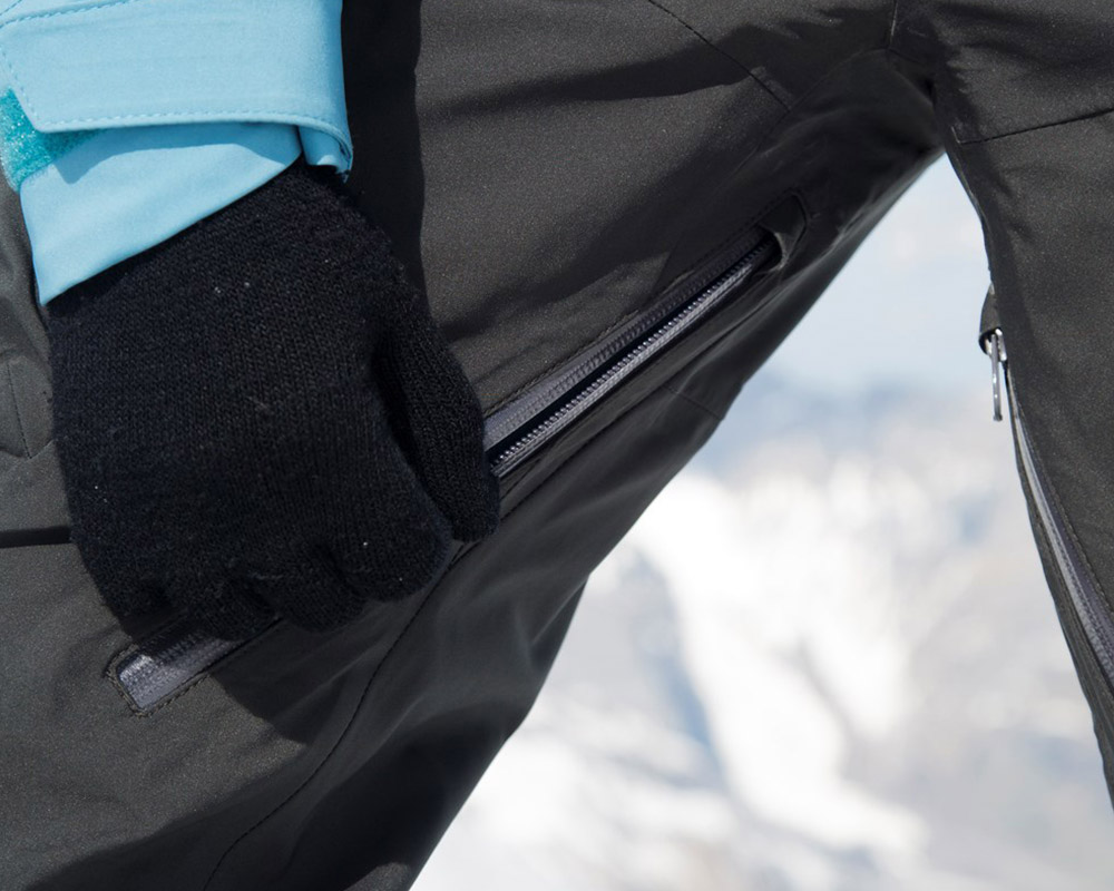 Дамски ски панталон с изолация вентилация на бедрата