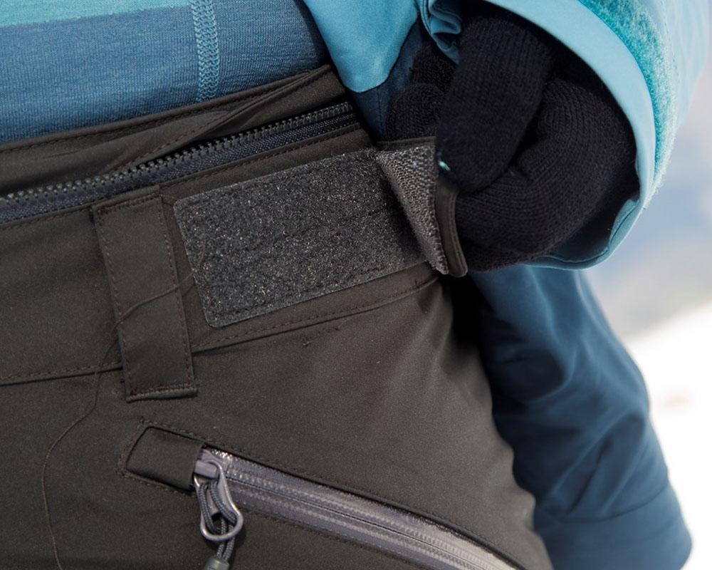 Дамски ски панталон с изолация велкро колан