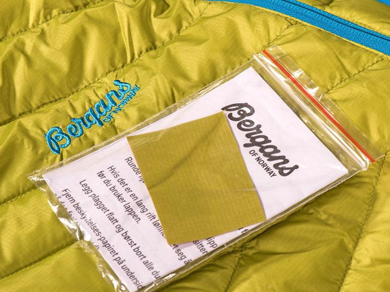 Комплект за ремонт на пухени якета дамско пухено яке Bergans