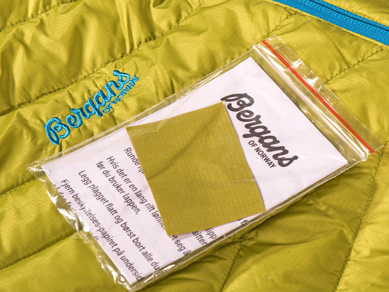 Мъжко пухено яке Bergans Bodø Down Jacket комплект за поправка