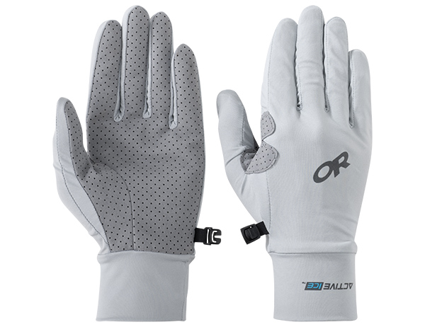Ръкавици за туризъм и спорт Outdoor Research ActiveIce Chroma Full Sun Gloves Alloy