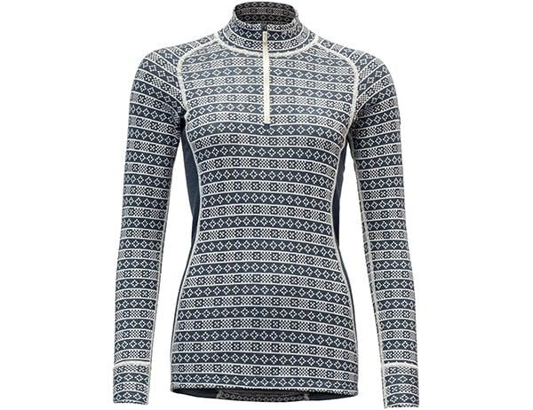 Дамска термо блуза с дълъг ръкав и висока яка Devold Alnes Woman Half Zip Neck Night 2021
