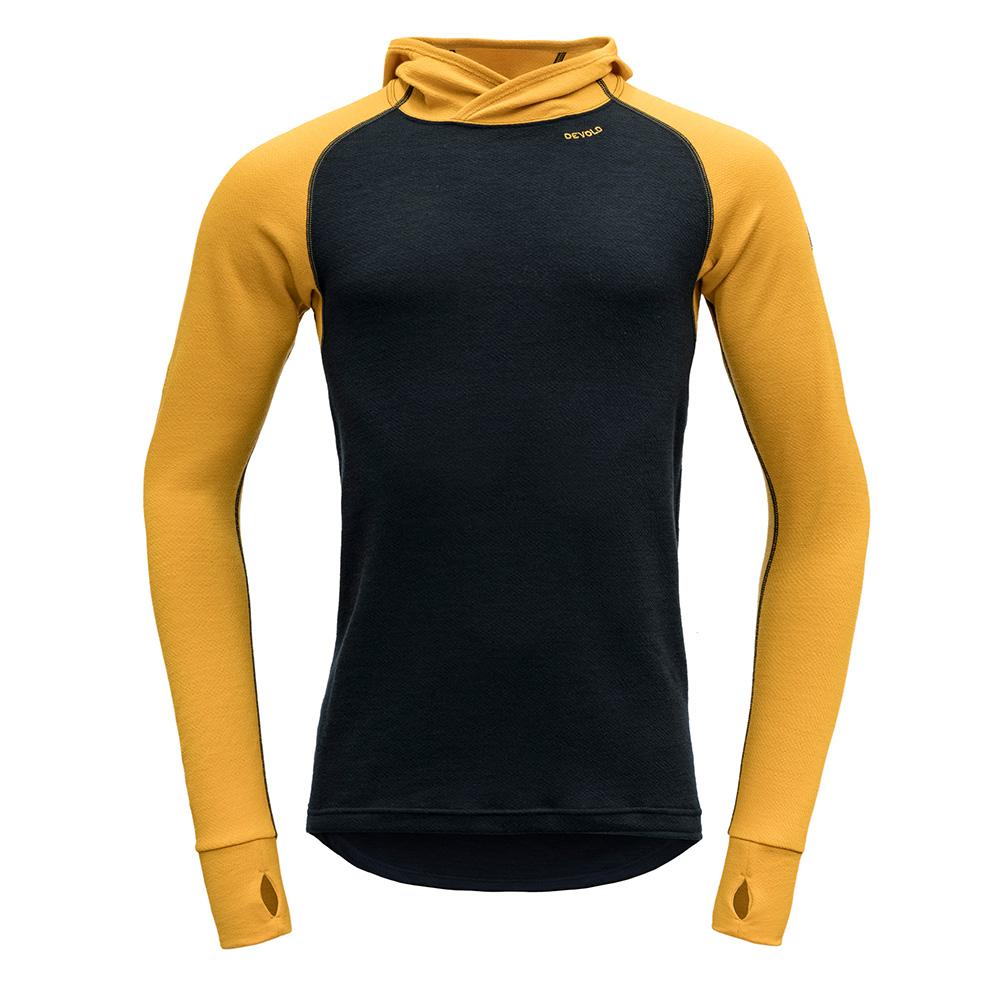 Мъжка термо блуза с дълъг ръкав и качулка Devold Expedition Man Hoodie Arrowwood / Ink 2021