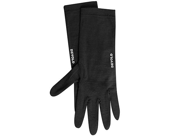 Ръкавици за туризъм от мерино вълна Devold Innerliner Black 2021