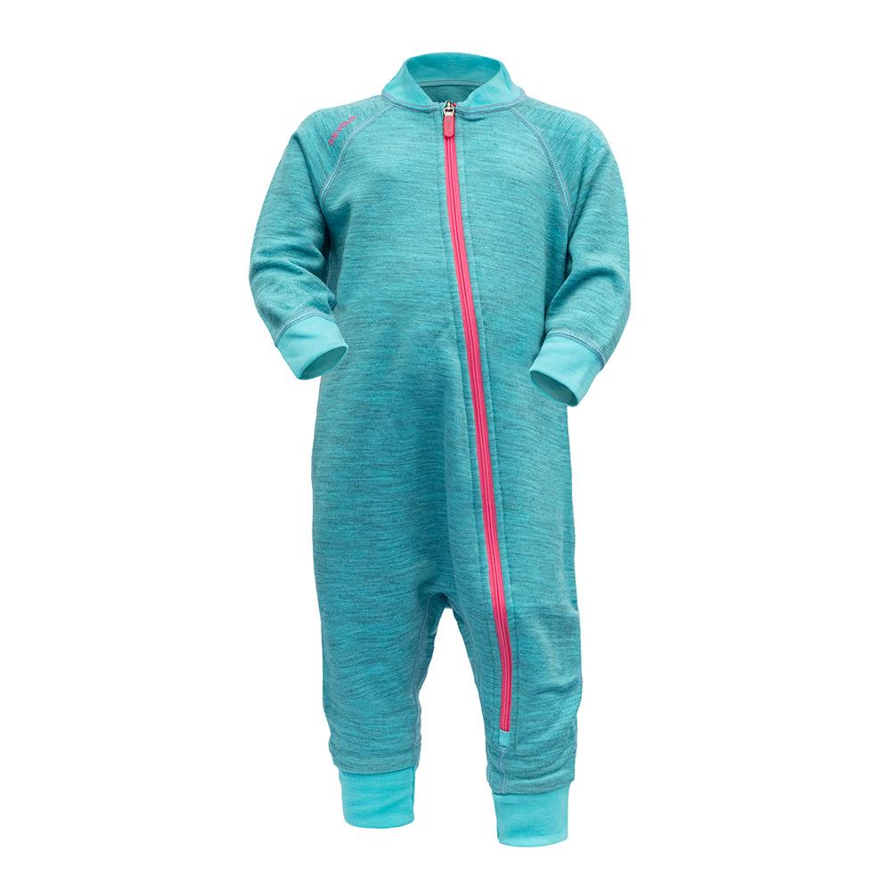 Детски термо гащеризон от мерино вълна Devold Nibba Baby Wool Playsuit Bay Melange 2021