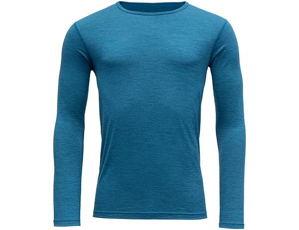 Мъжка термо блуза Devold Breeze Man Shirt Blue Melange 2021