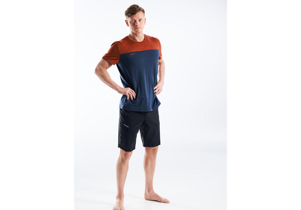 Мъжка тениска от мерино вълнa Devold Norang Man Tee Brick Melange 2021