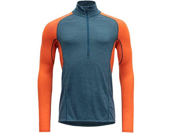 Мъжка блуза за бягане с дълъг ръкав Devold Running Man Zip Neck Pond 2021