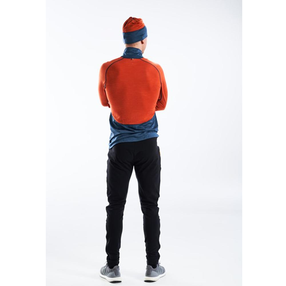 Гръб на мъжка блуза за бягане с дълъг ръкав Devold Running Man Zip Neck Pond 2021