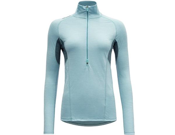Дамска блуза за бягане с дълъг ръкав Devold Running Woman Zip Neck Cameo 2021