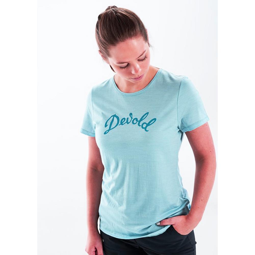 Дамска тениска от мерино вълнa Devold Myrull Woman Tee Cameo 2021
