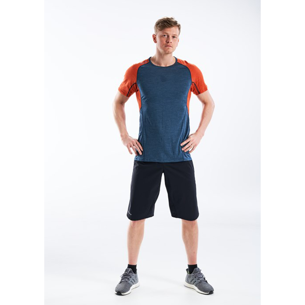 Лице на мъжка тениска за бягане Devold Running Man Tee Pond 2021