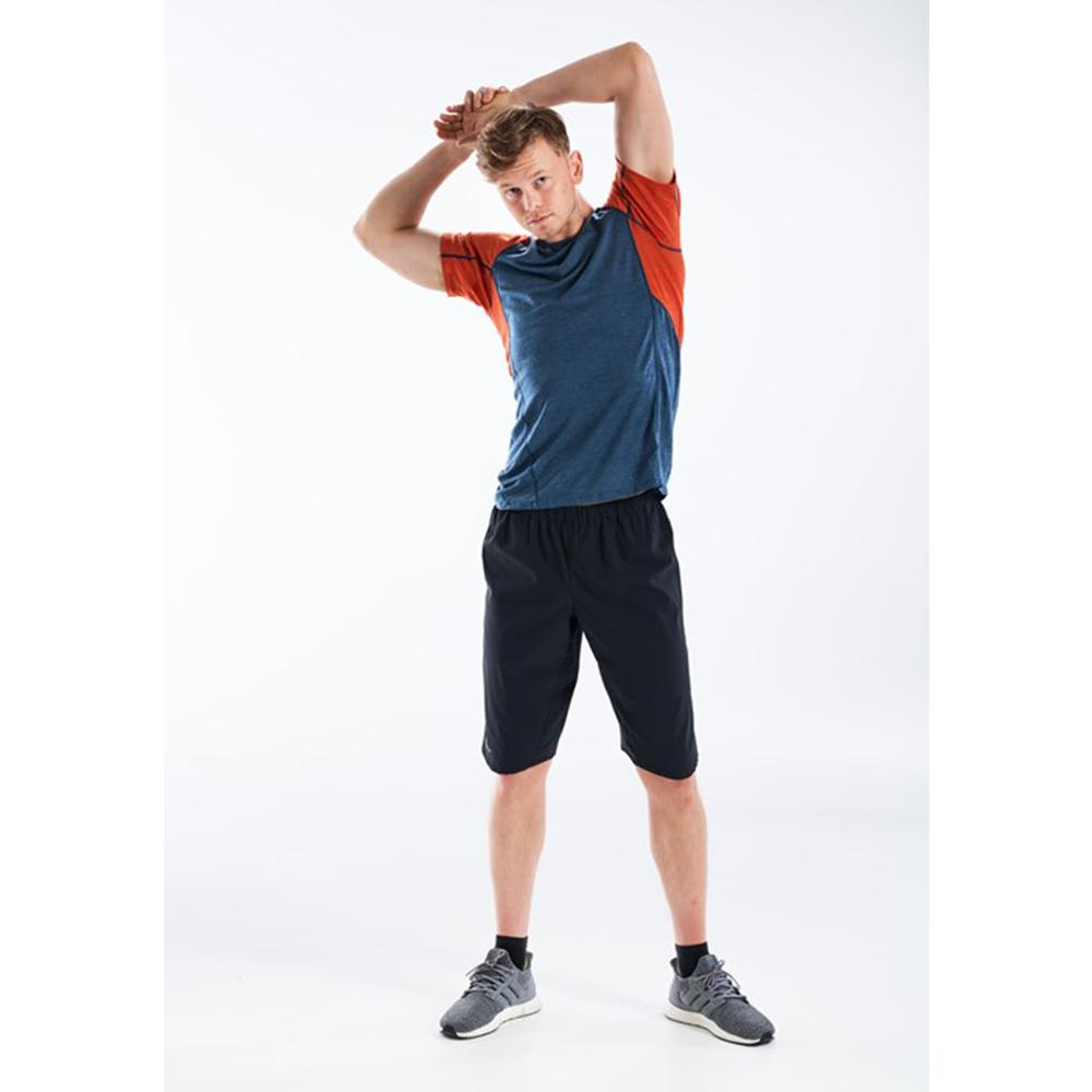 Под мишници на мъжка тениска за бягане Devold Running Man Tee Pond 2021