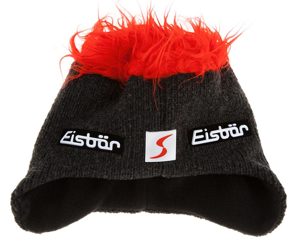 Зимна весела Ски шапка с изкуствена коса Eisbär Cocker MÜ SP Red