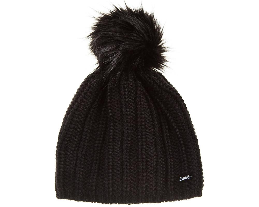 Дамска зимна шапка от мерино вълна с помпон Eisbär Paulina Lux MÜ