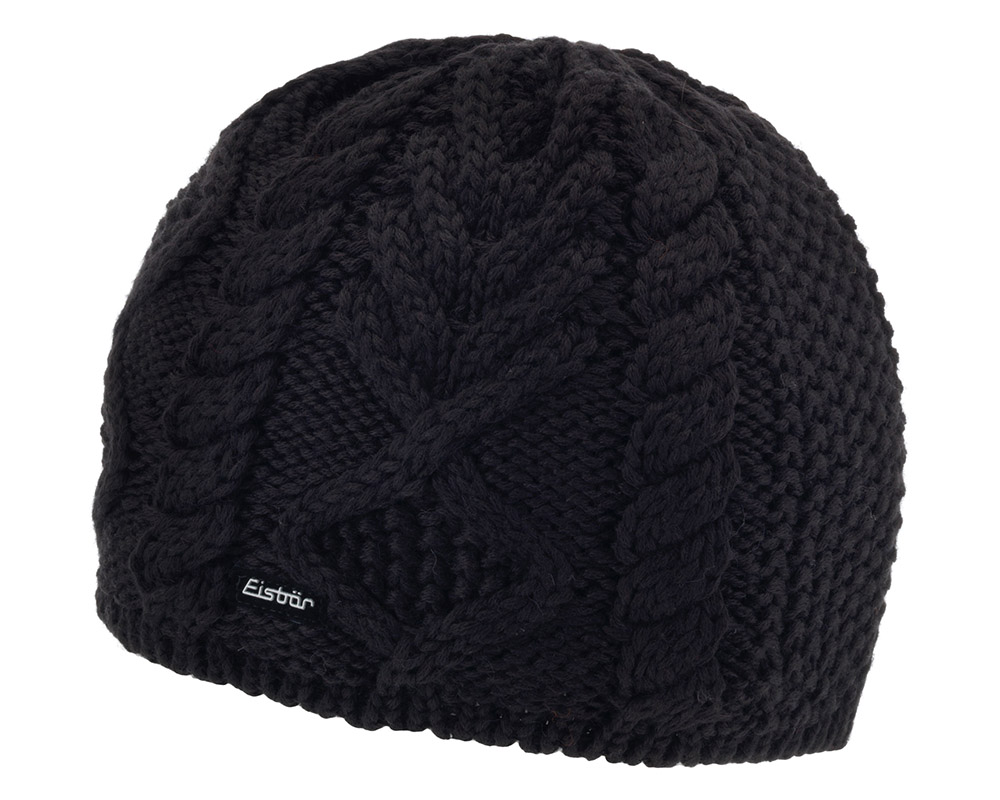 Зимна плетена шапка Eisbär Mirella MÜ Black