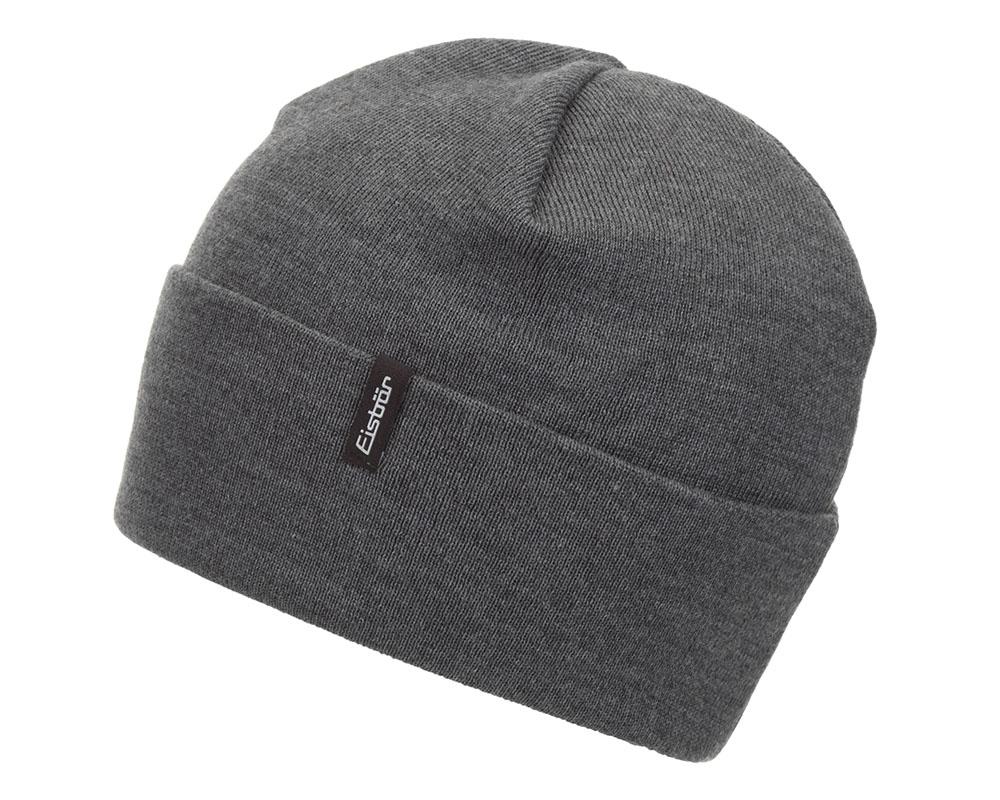 Зимна шапка от мерино вълна Eisbär Bold MÜ Grey