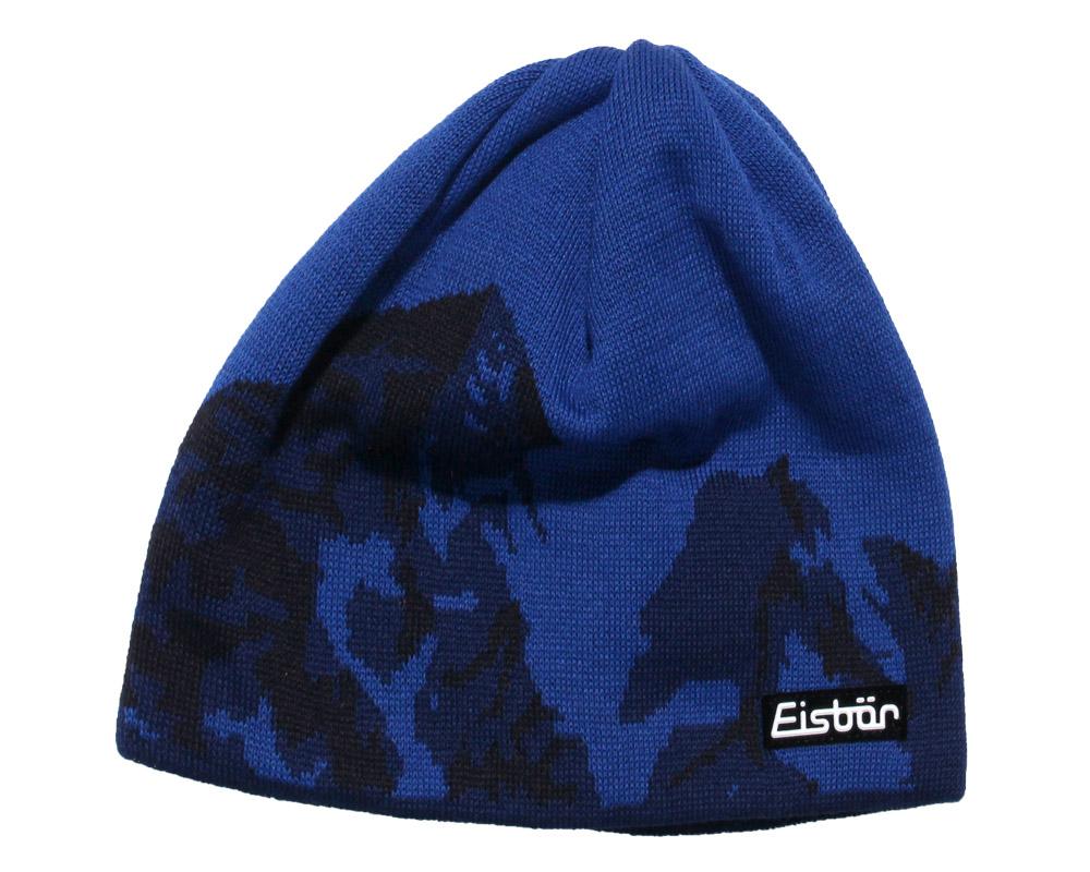 Вълнена плетена шапка Eisbär Orvo MÜ Blue