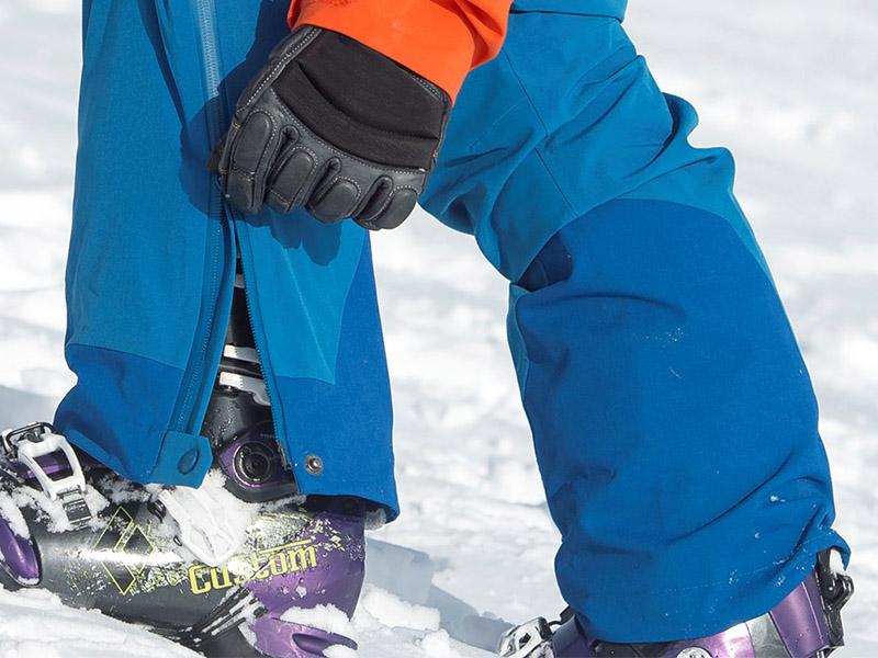 Дамски хардшел панталон за ски Bergans Gautefall Lady разкопчаване на крачола