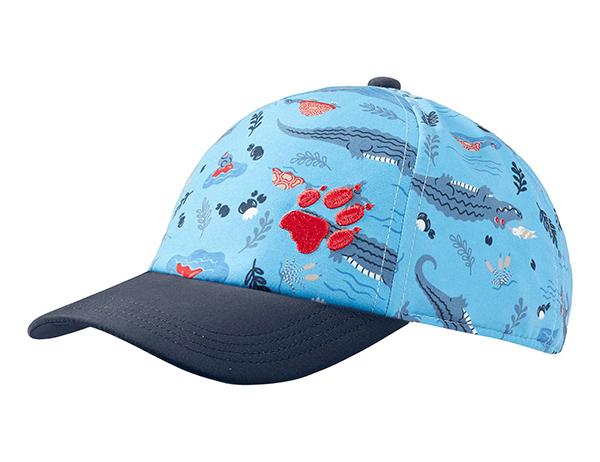 Детска шапка с козирка Jack Wolfskin Splash Kids Sky Blue