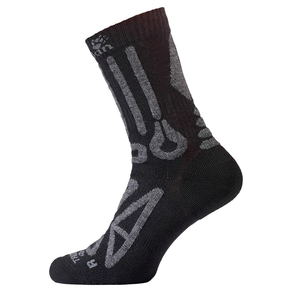 Чорапи Jack Wolfskin Trekking Merino Classic Cut Black