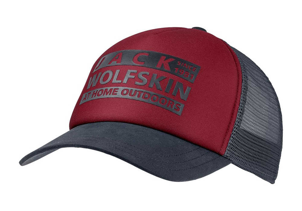 Шапка с козирка Jack Wolfskin Brand Mesh Cap Dark Lacquer Red 2021