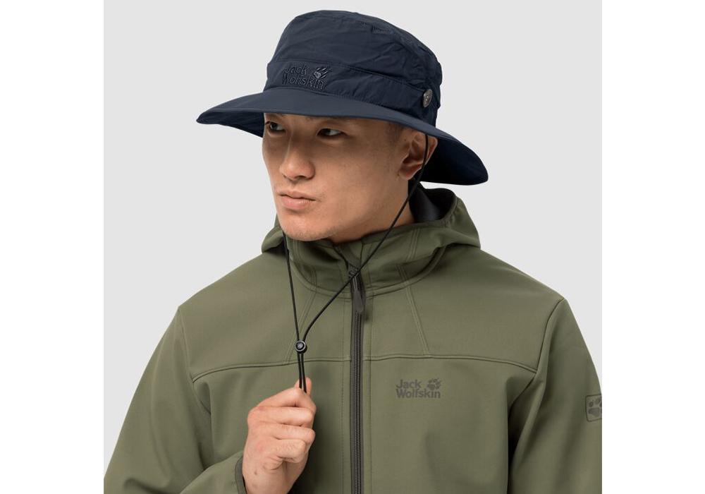 Туристическа шапка с периферия Jack Wolfskin Supplex Mesh Night Blue
