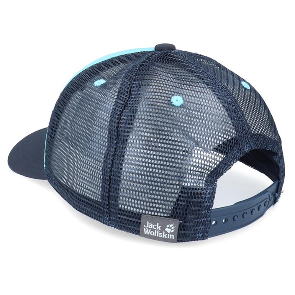 Гръб на детска шапка с козирка Jack Wolfskin Animal Mesh Cap Kids Blue Capri 2021