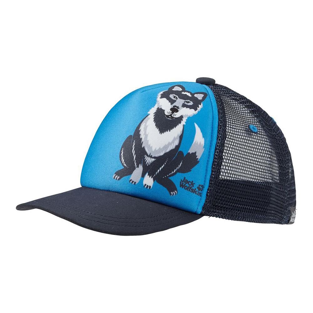 Детска шапка с козирка Jack Wolfskin Animal Mesh Cap Kids Sky Blue 2021