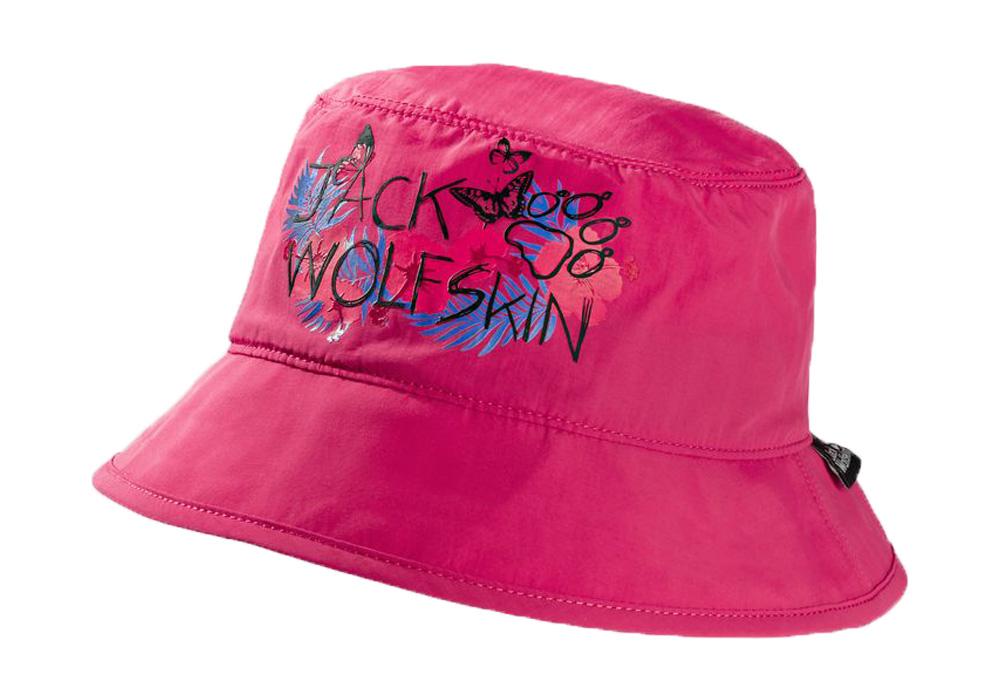 Детска слънцезащитна шапка с периферия Jack Wolfskin Supplex Magic Forest Hat Kids Tropic