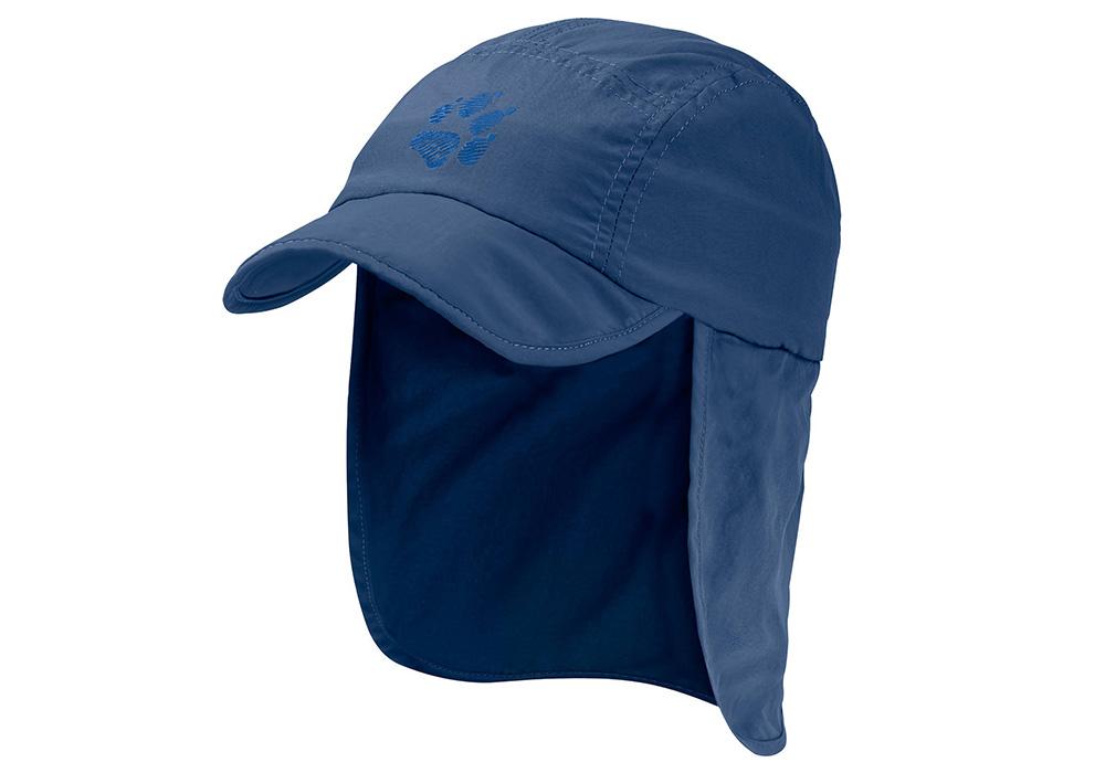Детска туристическа шапка Jack Wolfskin Supplex Canyon Cap Kids Ocean Wave