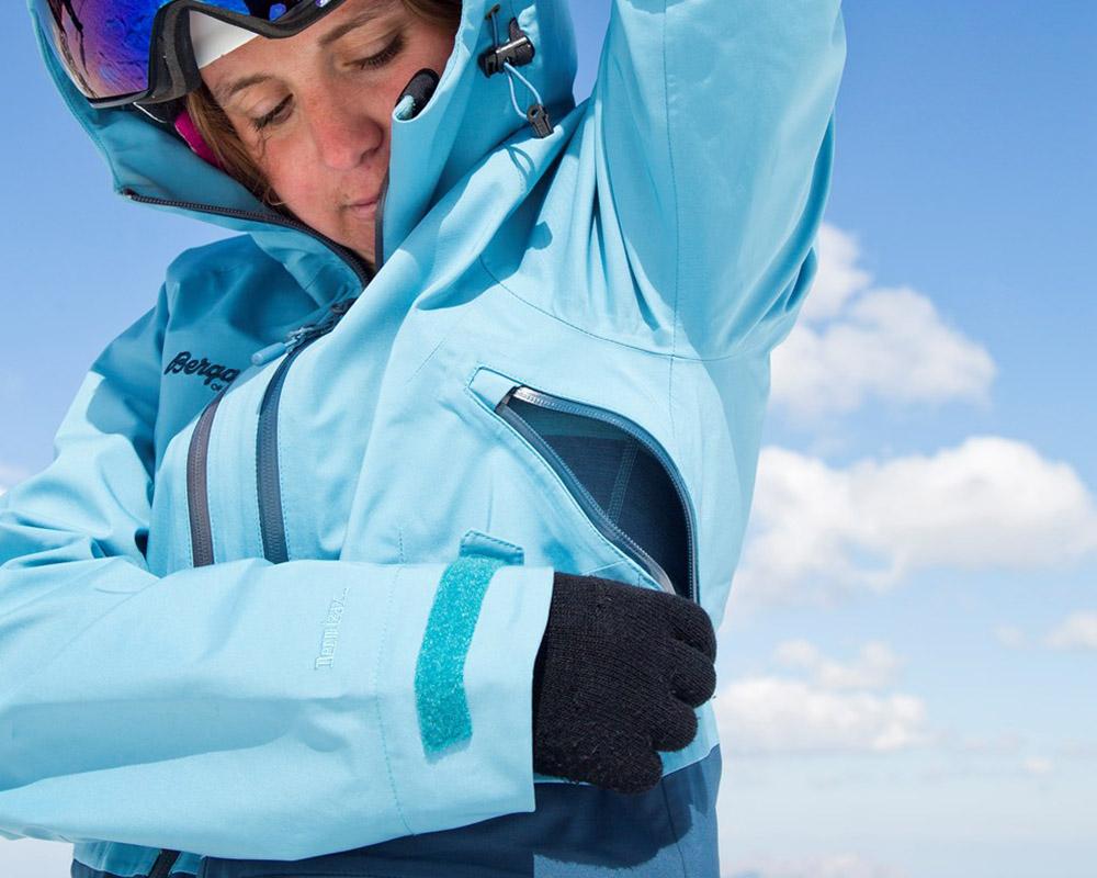 Вентилация под мишниците на дамско хардшел ски яке Bergans Myrkdalen Insulated Lady Jacket