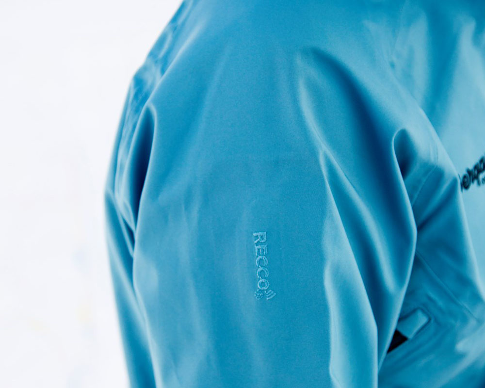 Recco рефрлектор на дамско хардшел ски яке Bergans Myrkdalen Insulated Lady Jacket