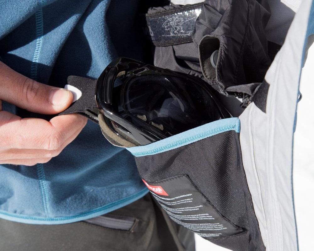 Вътрешен джоб за ски очила на дамско хардшел ски яке Bergans Myrkdalen Insulated Lady