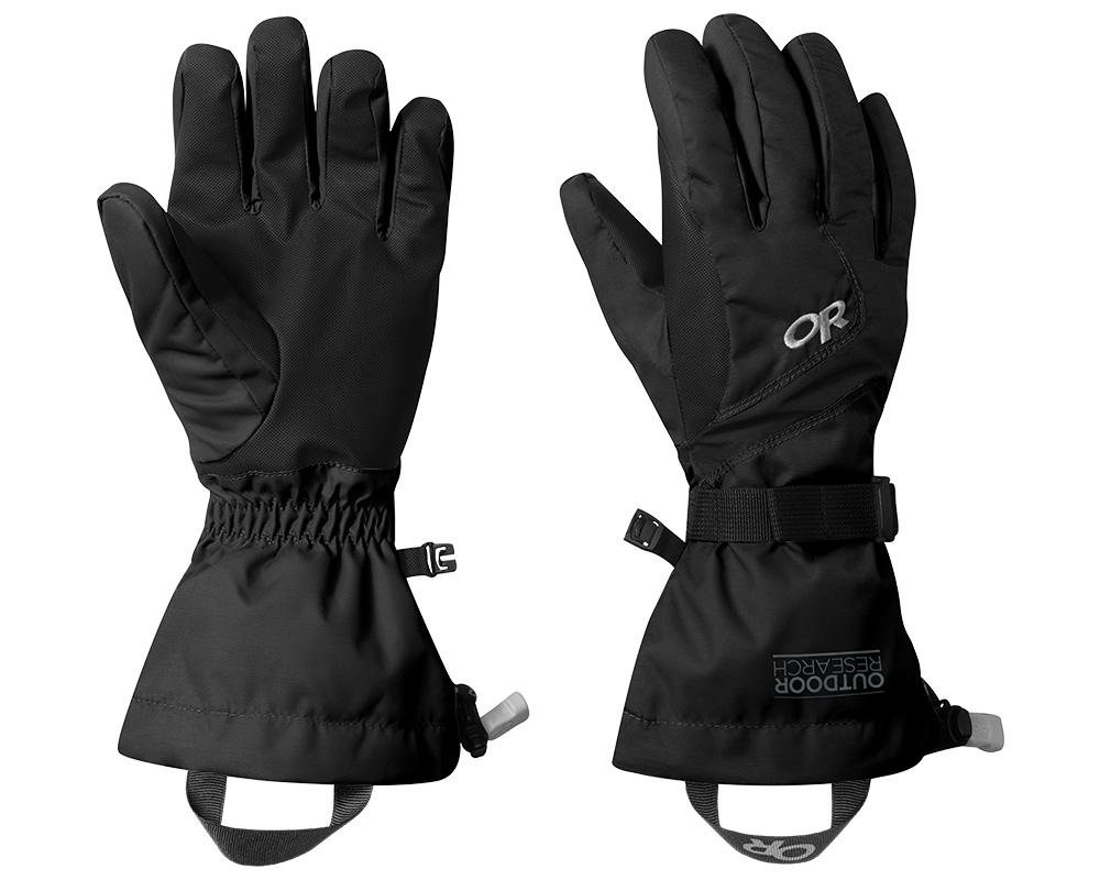 Дамски ръкавици с мембрана и изолация за ски Outdoor Research Adrenaline Gloves Black