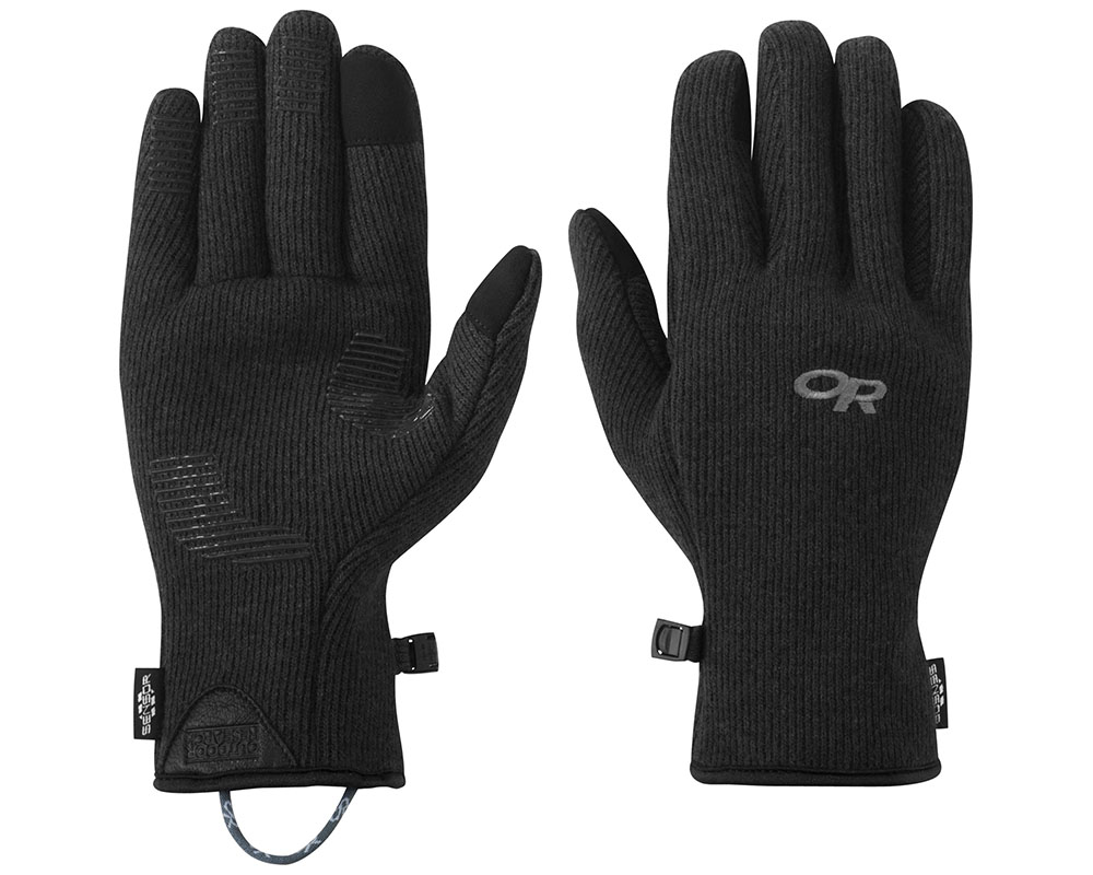 Зимни вълнени ръкавици за туризъм и ежедневие Outdoor Research Flurry Sensor Gloves Black