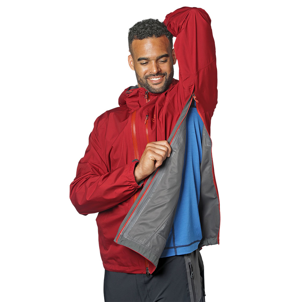 Вентилация отстрани хардшел яке Outdoor Research Foray Jacket Firebrick