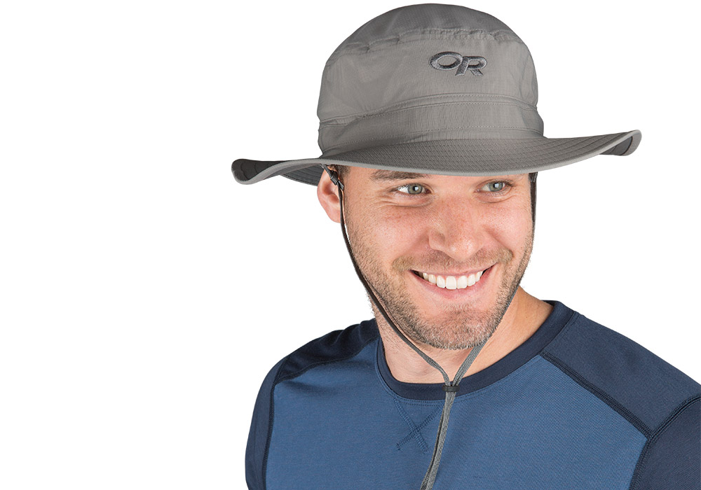 Туристическа шапка с периферия Outdoor Research Helios Sun Hat Pewter