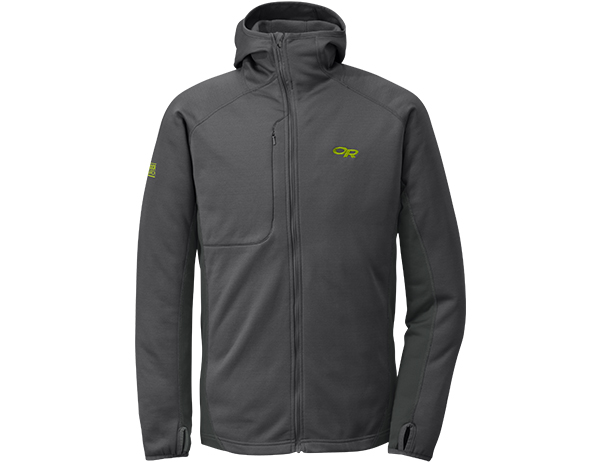 Мъжко поларено яке Outdoor Research Radiant Hybrid Hoody Charcoal