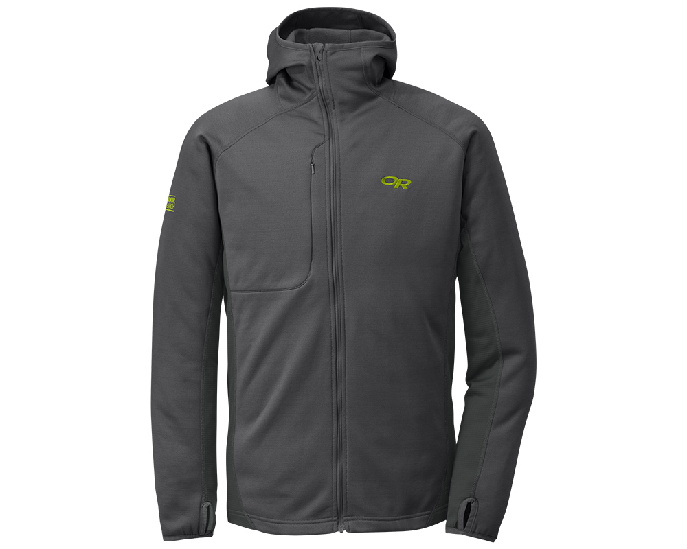 Мъжко поларено яке с качулка Outdoor Research Radiant Hybrid Hoody Charcoal